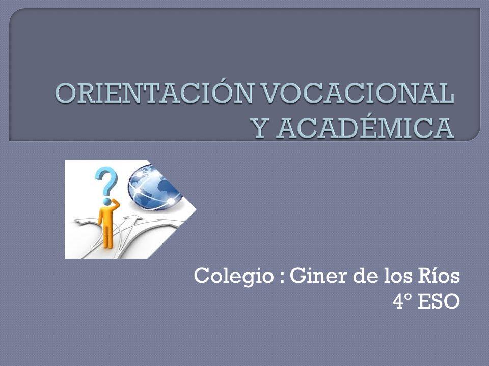 Colegio : Giner de los Ríos 4º ESO