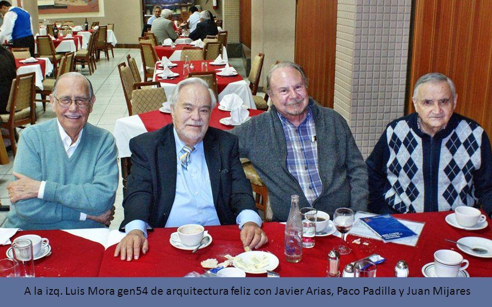 A la izq. Luis Mora gen54 de arquitectura feliz con Javier Arias, Paco Padilla y Juan Mijares