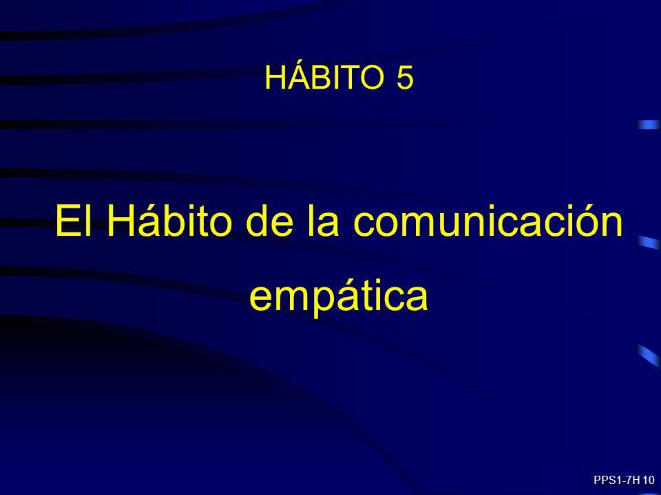 HÁBITO 5 El Hábito de la comunicación empática PPS1-7H 10