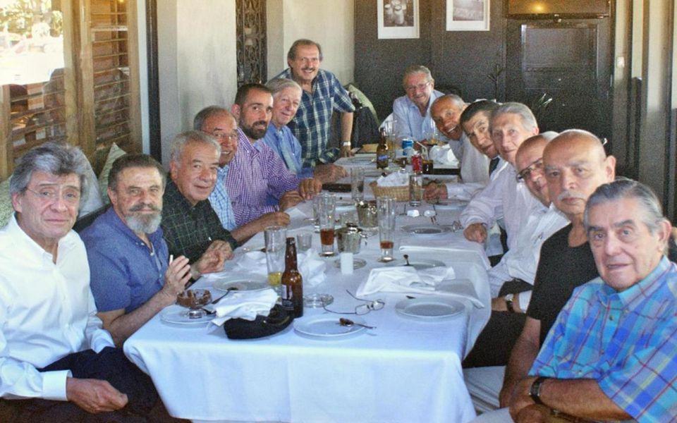 Asistentes a la comida del 7 de junio de 2013, Gen57 en el Cerroviento. En orden alfabético: AGUSTIN GARCIA GARIBAY, ALBERTO DELEZE MADRIGAL, ALCIBIAD