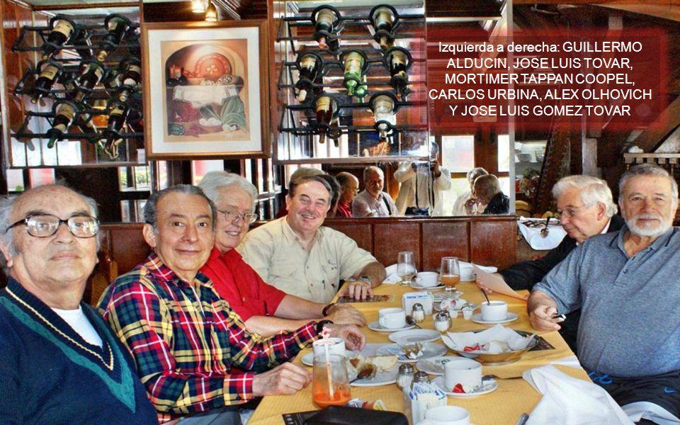 Izquierda a derecha: GUILLERMO ALDUCIN, JOSE LUIS TOVAR, MORTIMER TAPPAN COOPEL, CARLOS URBINA, ALEX OLHOVICH Y JOSE LUIS GOMEZ TOVAR