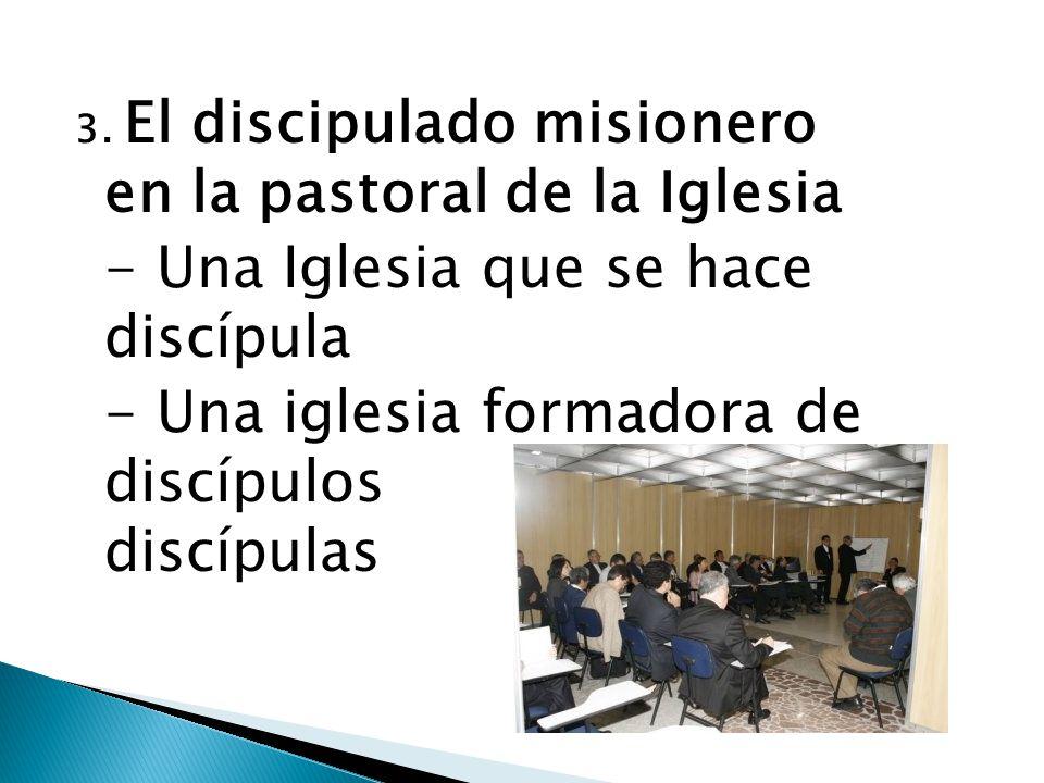 3. El discipulado misionero en la pastoral de la Iglesia - Una Iglesia que se hace discípula - Una iglesia formadora de discípulos y discípulas