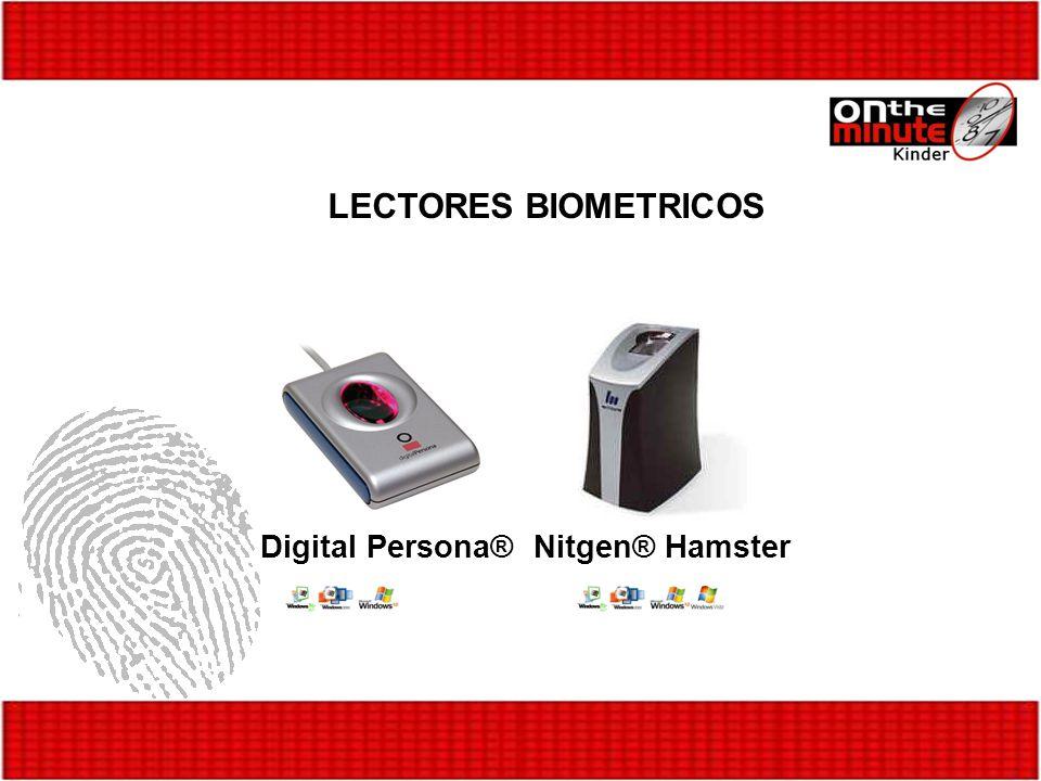 LECTORES BIOMETRICOS Digital Persona®Nitgen® Hamster