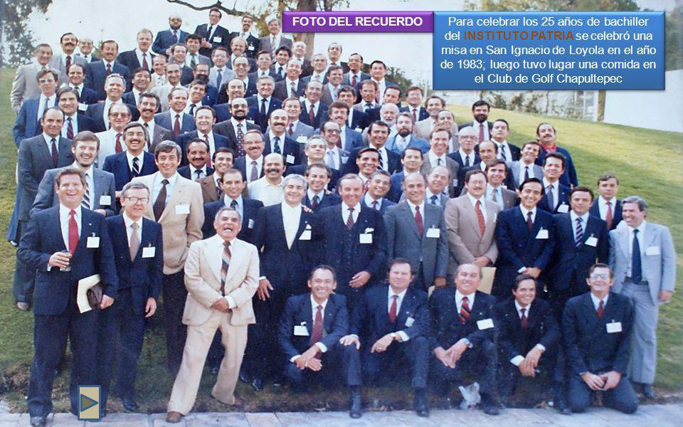 FOTO DEL RECUERDO.En el año de 2008 se celebró una misa en San Ignacio de Loyola.