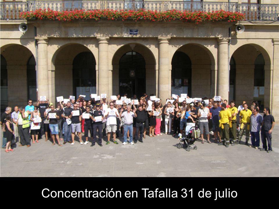 Concentración en Tafalla 31 de julio