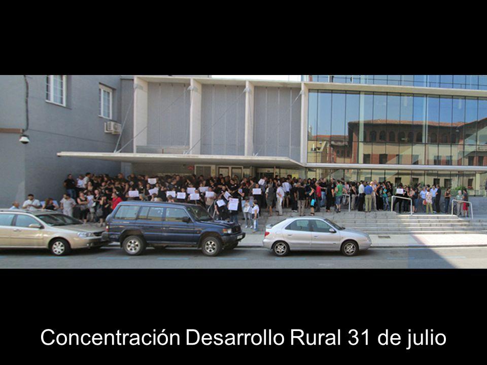Concentración Desarrollo Rural 31 de julio