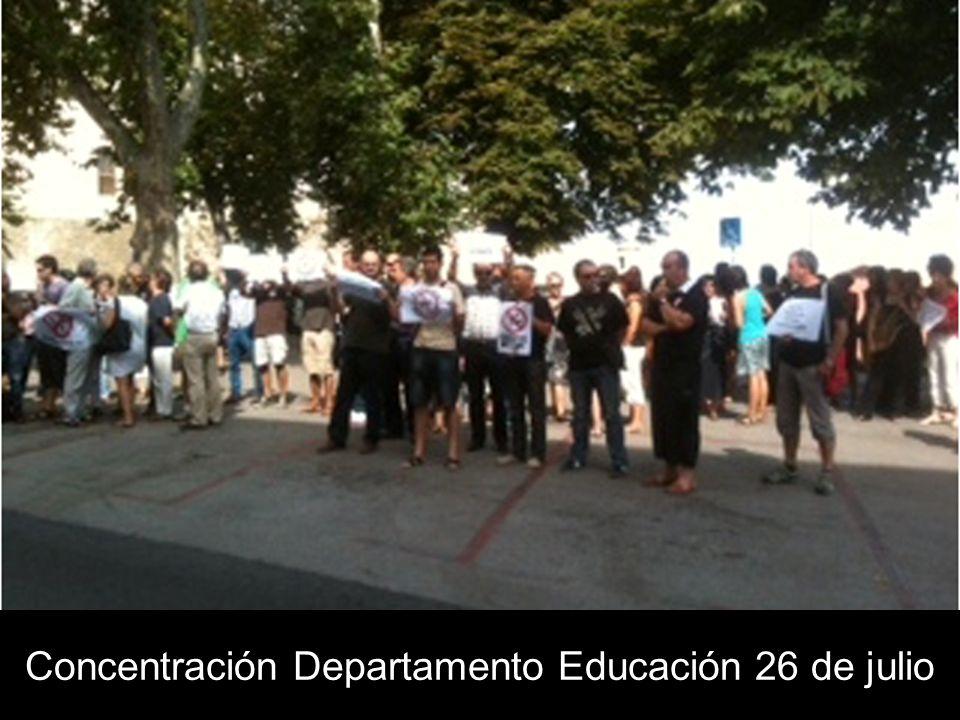 Concentración Departamento Educación 26 de julio