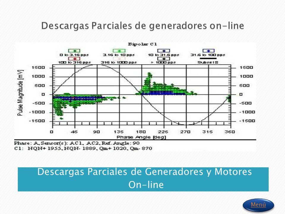 Descargas Parciales de Generadores y Motores On-line Menú