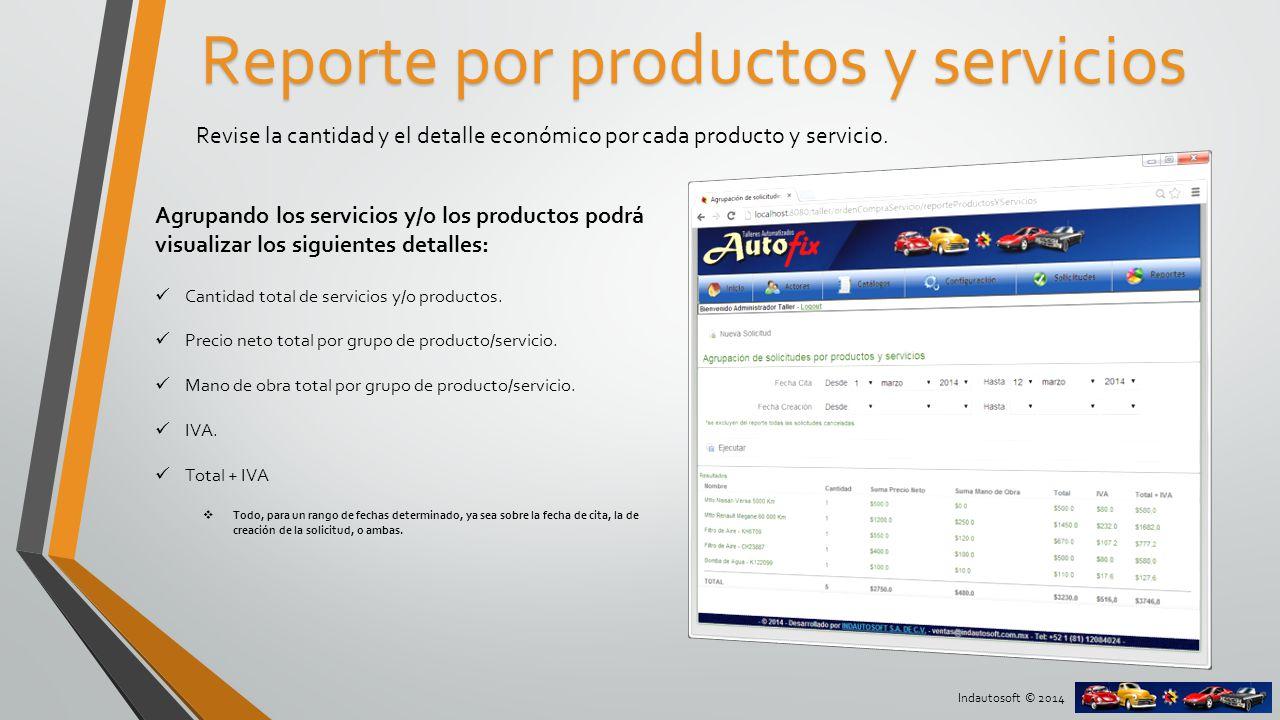 Indautosoft © 2014 Ubicación de las órdenes Ubique las órdenes de compra/servicio en una vista de calendario agrupándolas por día o semana.
