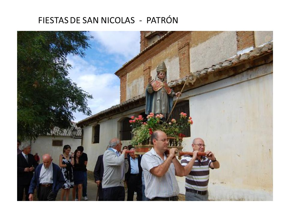 FIESTAS DE SAN NICOLAS - PATRÓN