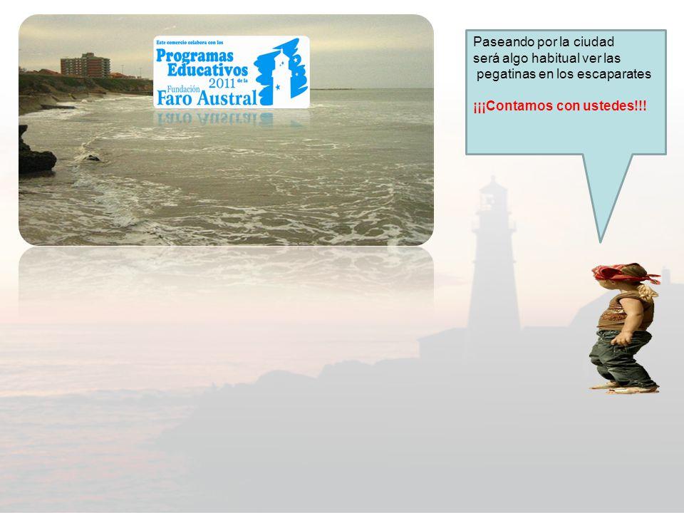 Que playa tan linda ¡Hoooo… el cielo puso un stiker de Fundación Faro austral!