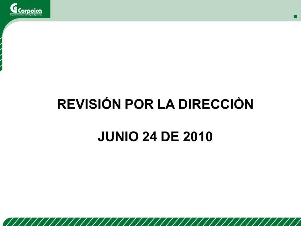 REVISIÓN POR LA DIRECCIÒN JUNIO 24 DE 2010