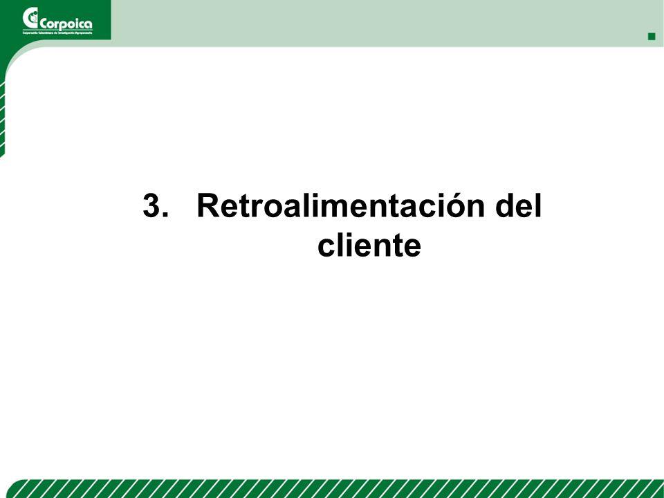 3.Retroalimentación del cliente