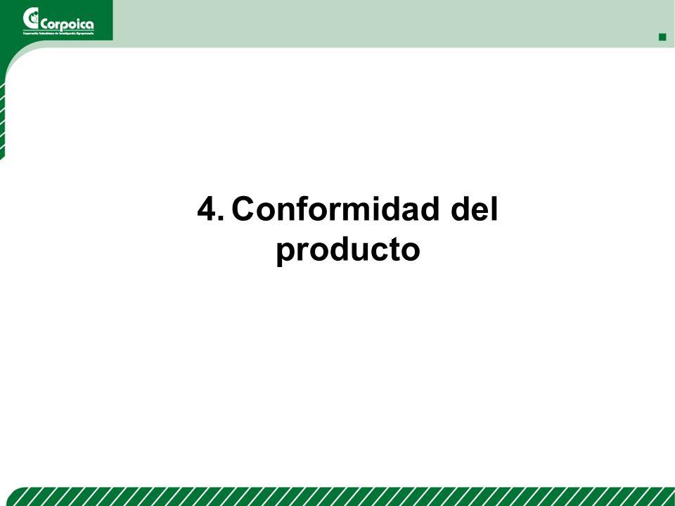 4.Conformidad del producto