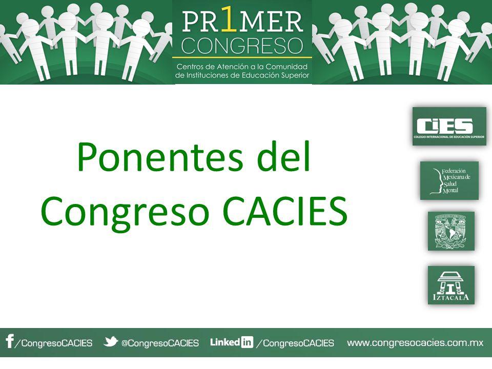 Ponentes del Congreso CACIES