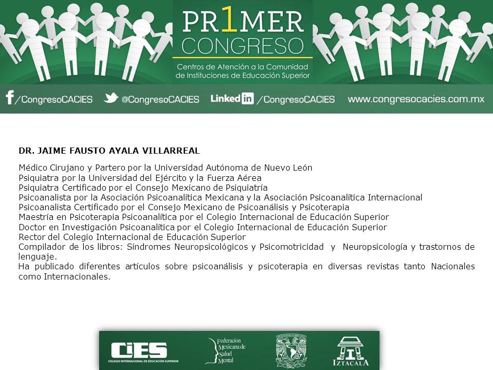 TRABAJADORA SOCIAL SANDRA ALAN GUZMÁN Obtuvo la Licenciatura en la UNAM; actualmente es la responsable del Departamento de Trabajo Social en la Clínica Universitaria de Salud Integral de la Facultad de Estudios Superiores Iztacala de la UNAM.