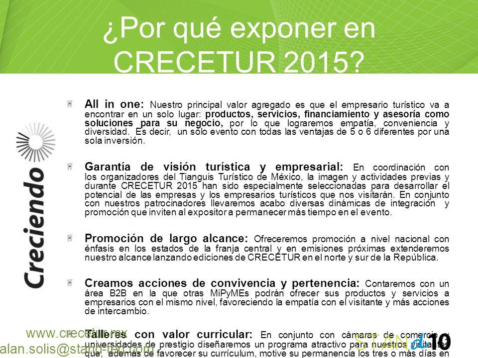 ¿Por qué exponer en CRECETUR 2015? All in one: Nuestro principal valor agregado es que el empresario turístico va a encontrar en un solo lugar: produc