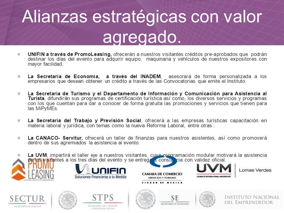 Alianzas estratégicas con valor agregado. UNIFIN a través de PromoLeasing, ofrecerán a nuestros visitantes créditos pre-aprobados que podrán destinar