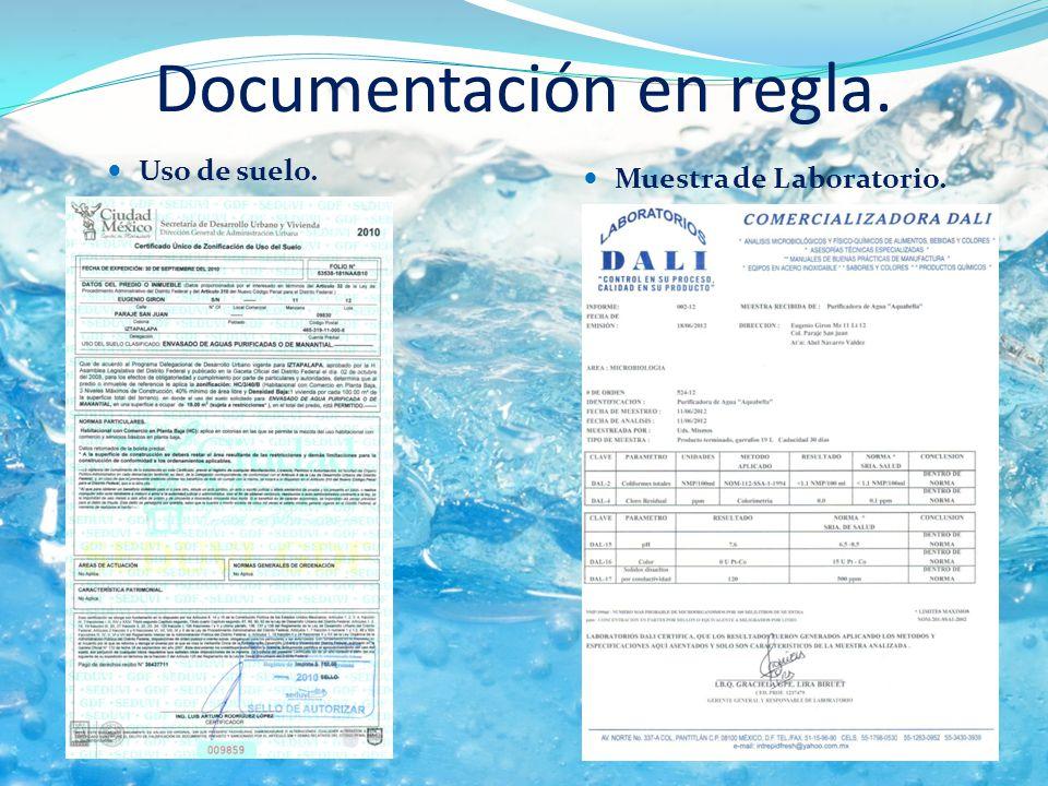 Documentación en regla. SHCP
