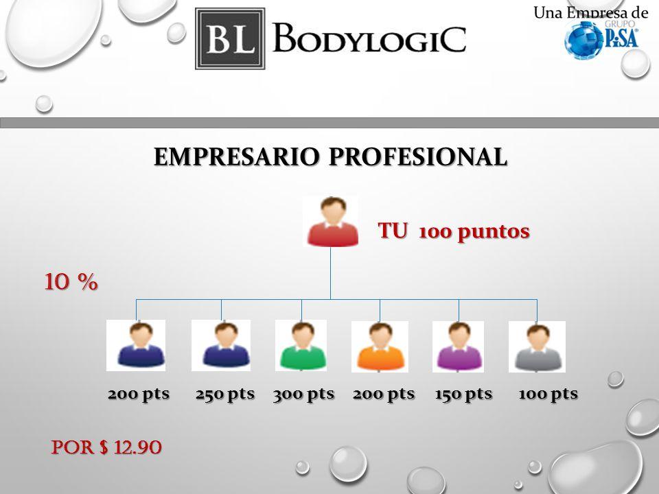 EMPRESARIO PROFESIONAL 200 pts 250 pts 300 pts 200 pts 150 pts 100 pts TU 100 puntos Por $ 12.90 10 %