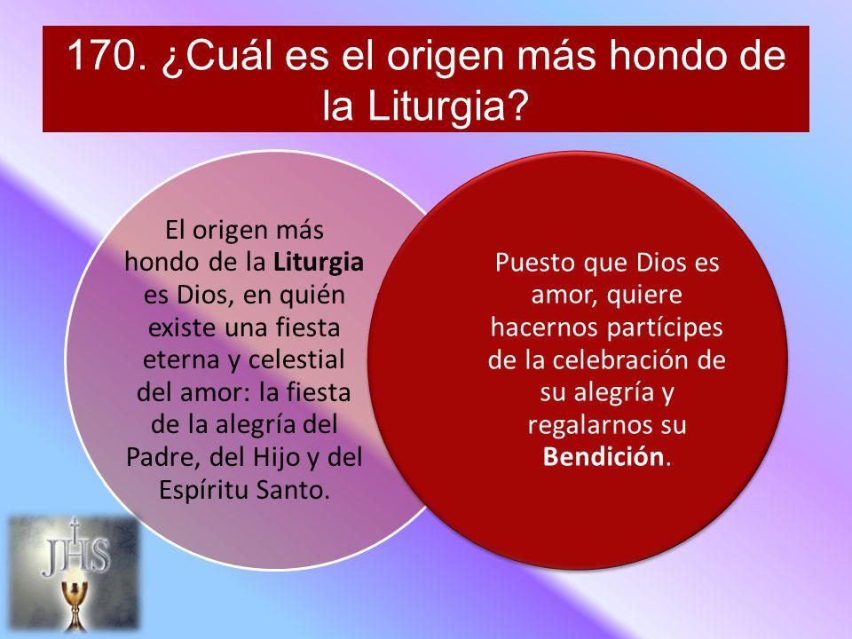 170.¿Cuál es el origen más hondo de la Liturgia.