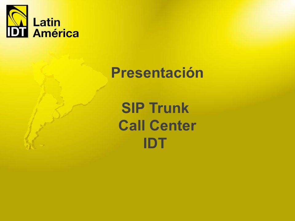 El Servicio SIP Trunk Call Center IDT es un vinculo por medio de Internet entre nuestro centro de operaciones y la central telefónica de su Call Center.