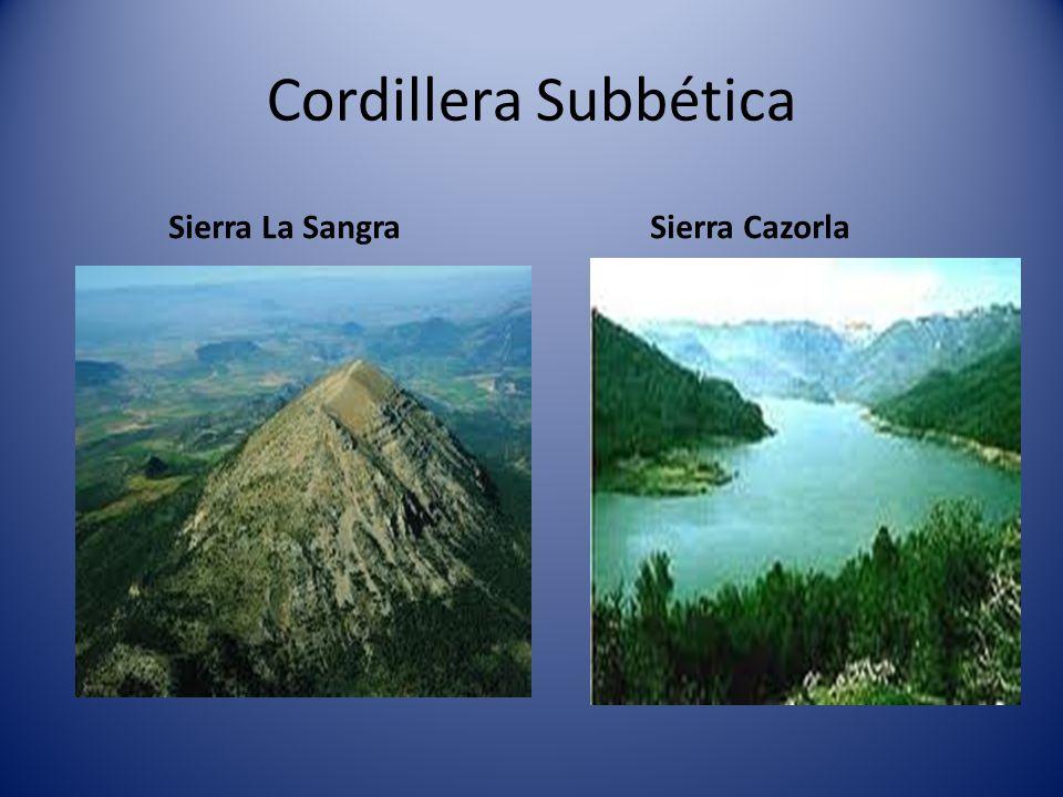 Cordillera Penibética Sierra Nevada El pico más alto es:Mulhacén