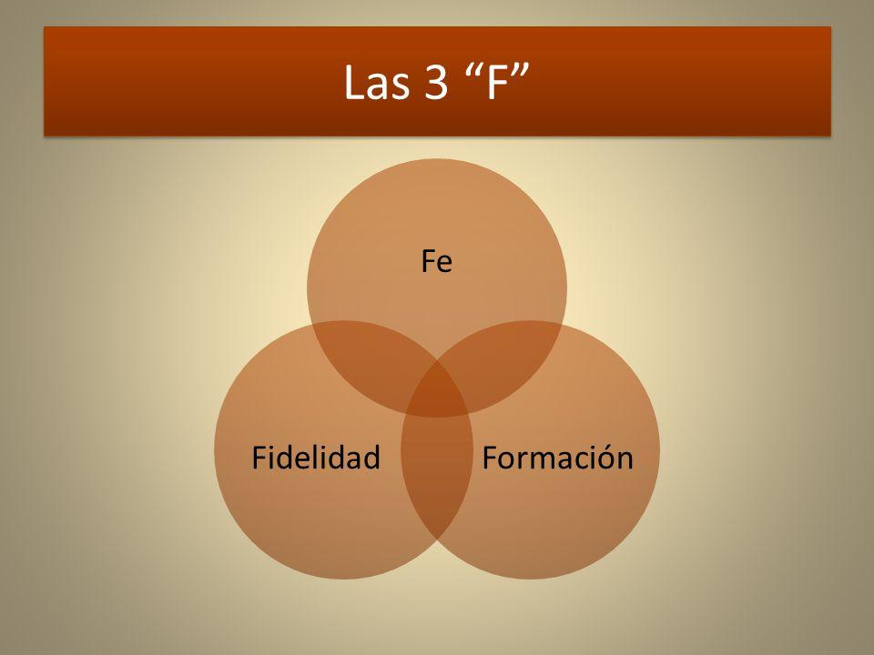 Las 3 F Fe FormaciónFidelidad