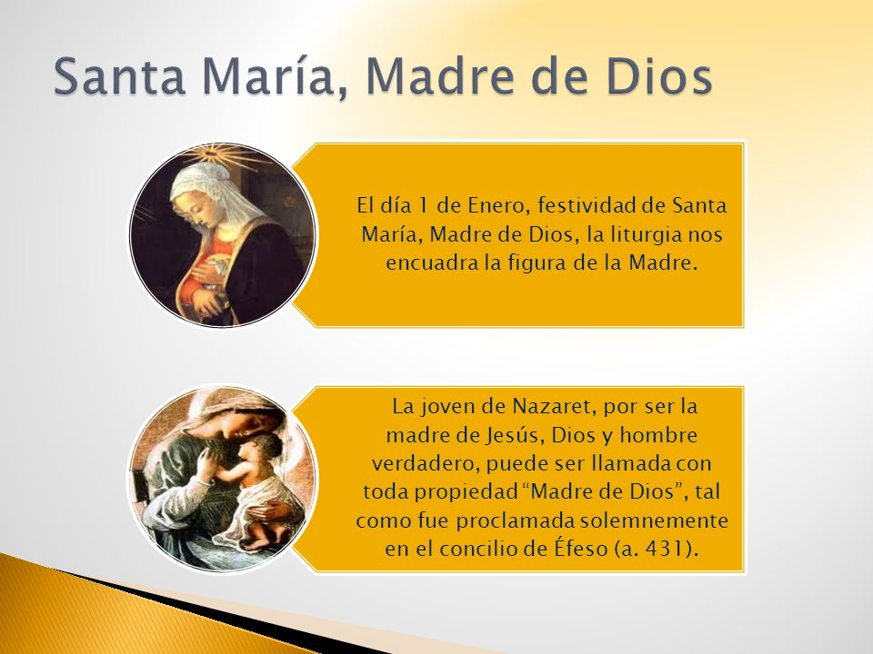 El día 1 de Enero, festividad de Santa María, Madre de Dios, la liturgia nos encuadra la figura de la Madre. La joven de Nazaret, por ser la madre de