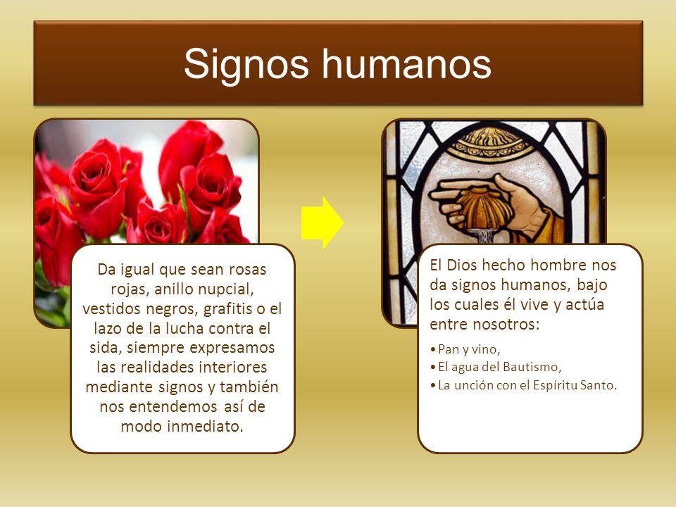 Signos humanos Da igual que sean rosas rojas, anillo nupcial, vestidos negros, grafitis o el lazo de la lucha contra el sida, siempre expresamos las r