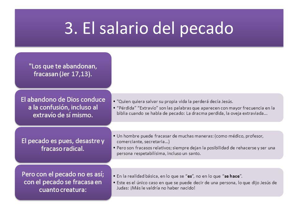 3. El salario del pecado