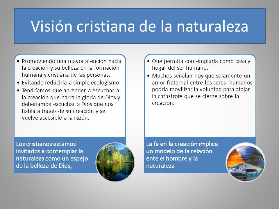 Visión cristiana de la naturaleza Promoviendo una mayor atención hacia la creación y su belleza en la formación humana y cristiana de las personas, Ev