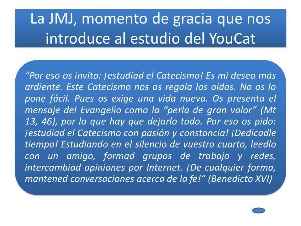 La JMJ, momento de gracia que nos introduce al estudio del YouCat Por eso os invito: ¡estudiad el Catecismo.