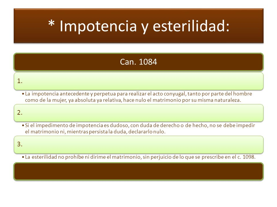 * Existencia de un vínculo anterior Can.1085 1.