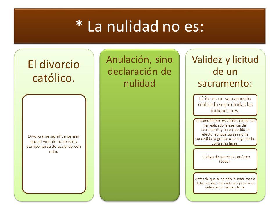 Algunos principios preliminares: El hecho de la nulidad significa que, en el momento, en que se pensaba que se realizaba el matrimonio, éste no se realizó.