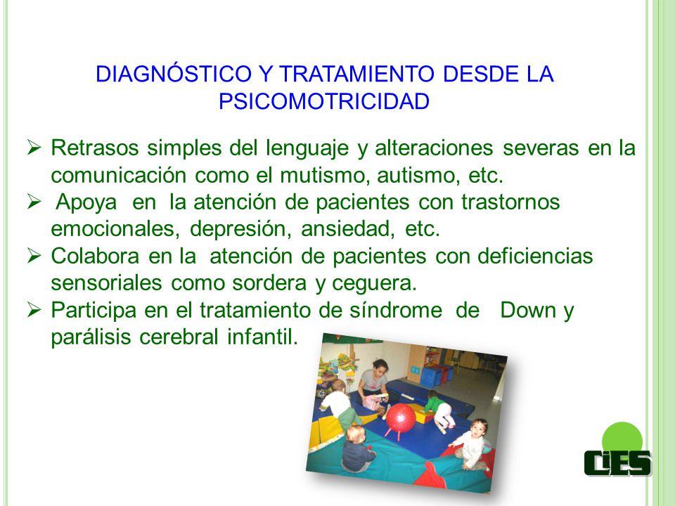 DIAGNÓSTICO Y TRATAMIENTO DESDE LA PSICOMOTRICIDAD Retrasos simples del lenguaje y alteraciones severas en la comunicación como el mutismo, autismo, e
