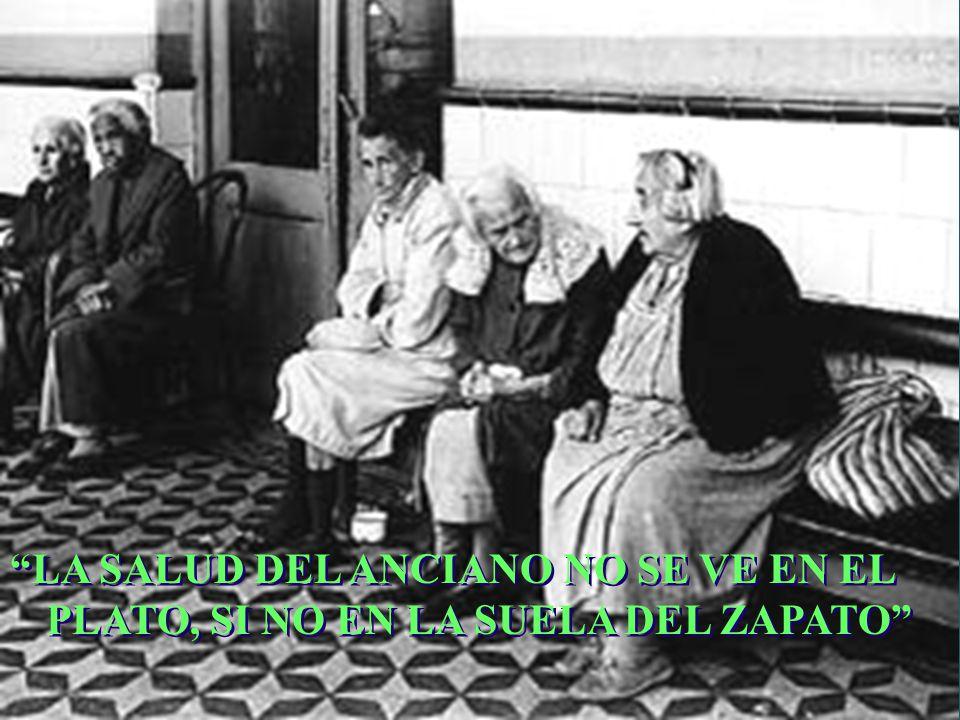 CAMBIOS BIOLOGICOS EN EL ANCIANO DISMINUCIÓN DE LA RESERVA FUNCIONAL (renal, cardiaca y psíquica) DISMINUCIÓN DE LA HOMEOSTASIS INTERNA Y DE LA ADAPTACIÓN EXTERNA INCREMENTO PROGRESIVO DE TAS Y TAD DESDE EL NACIMIENTO HASTA 60-65 AÑOS.