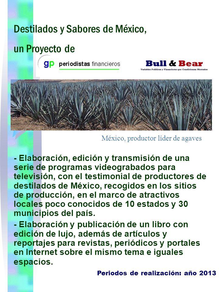 Destilados y Sabores de México, un Proyecto de - Elaboración, edición y transmisión de una serie de programas videograbados para televisión, con el te