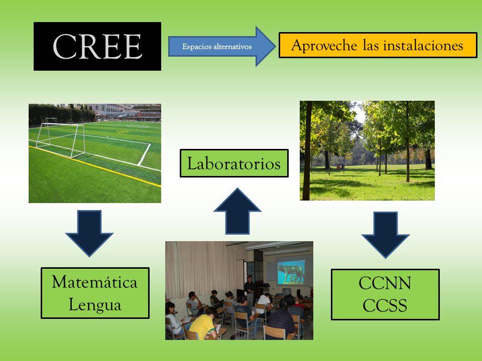 CREE Espacios alternativos Aproveche las instalaciones Matemática Lengua CCNN CCSS Laboratorios