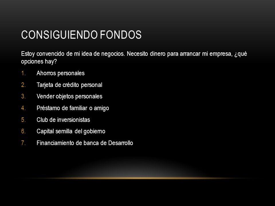CONSIGUIENDO FONDOS 1.