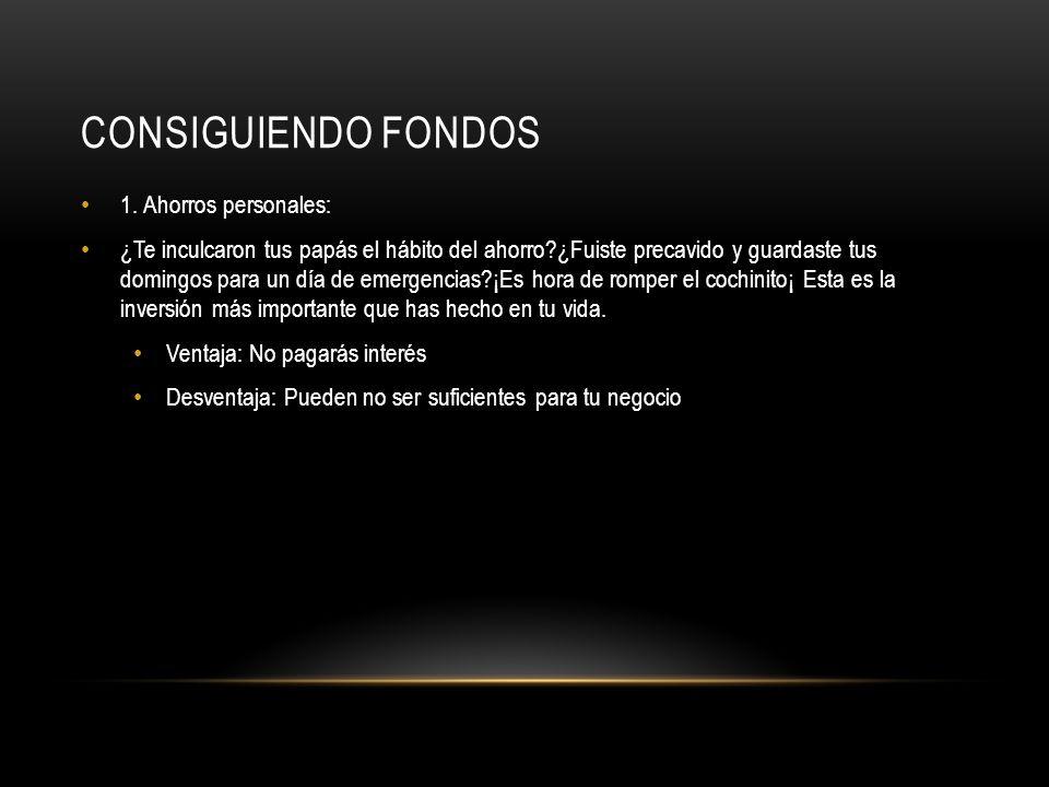 CONSIGUIENDO FONDOS 2.