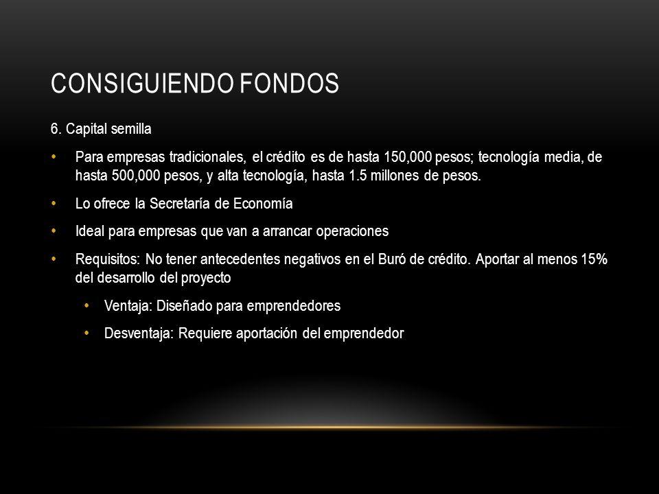 CONSIGUIENDO FONDOS 7.