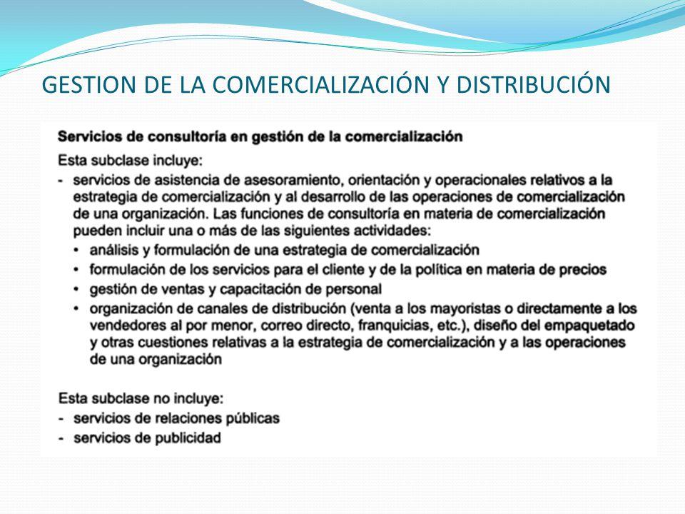GESTION DE LA COMERCIALIZACIÓN Y DISTRIBUCIÓN