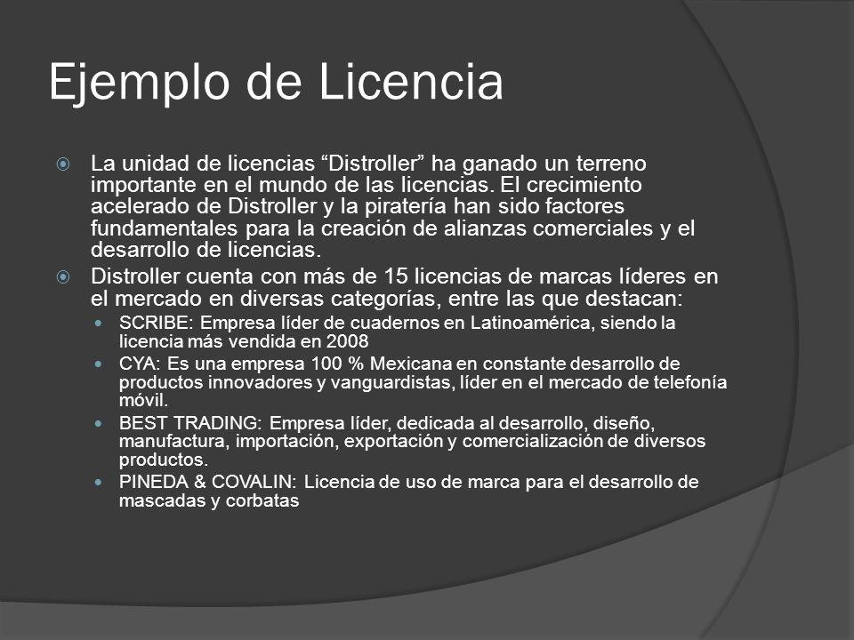 Ejemplo de Licencia La unidad de licencias Distroller ha ganado un terreno importante en el mundo de las licencias. El crecimiento acelerado de Distro