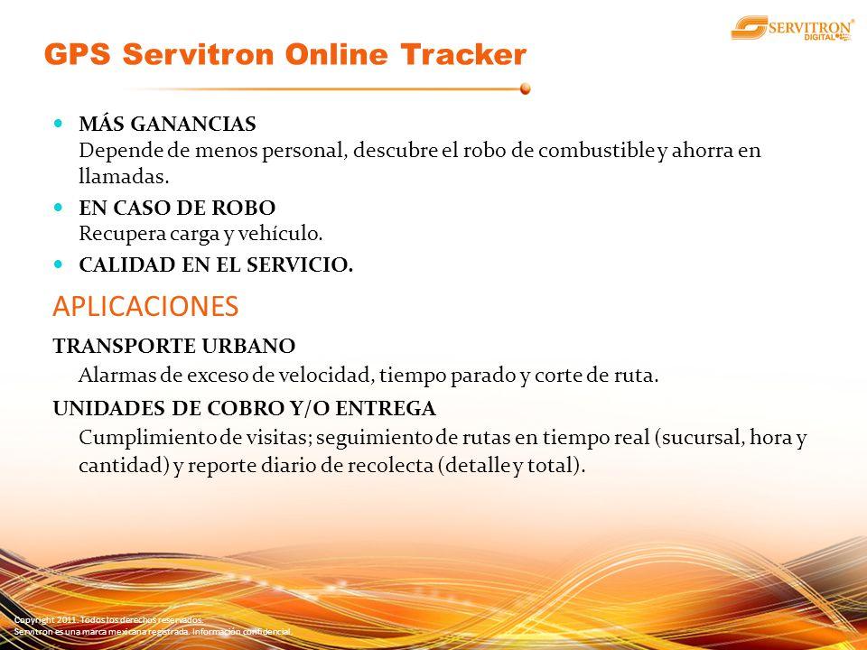 Copyright 2011. Todos los derechos reservados. Servitron es una marca mexicana registrada. Información confidencial. MÁS GANANCIAS Depende de menos pe
