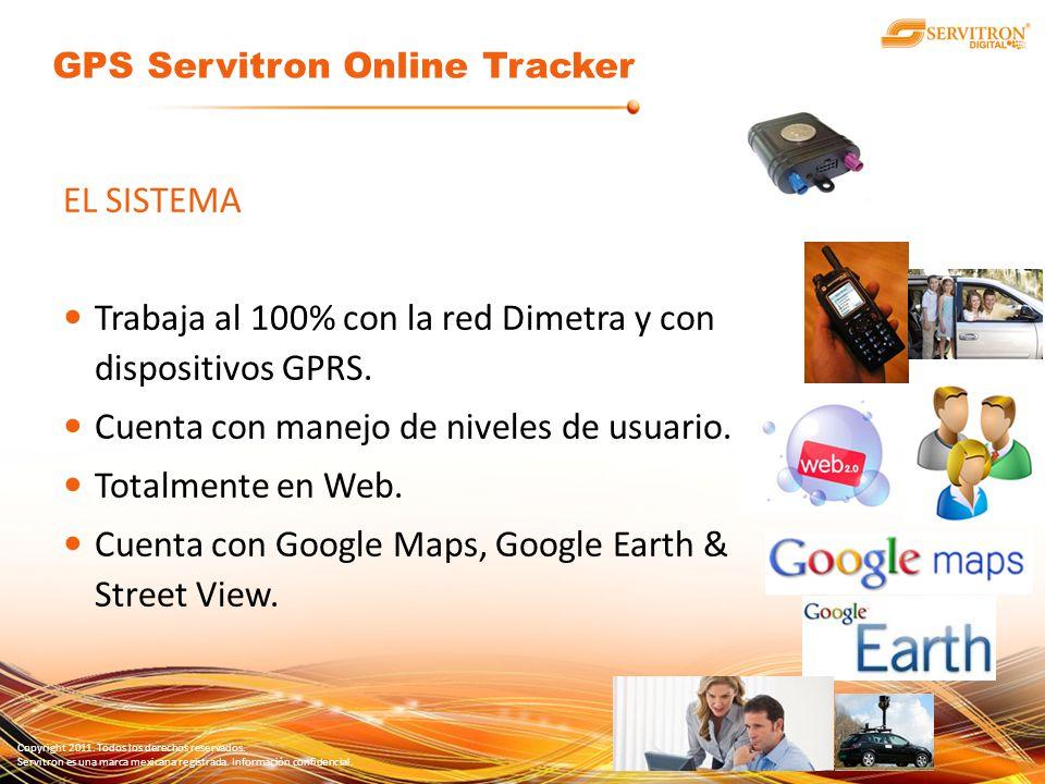 Copyright 2011. Todos los derechos reservados. Servitron es una marca mexicana registrada. Información confidencial. EL SISTEMA Trabaja al 100% con la