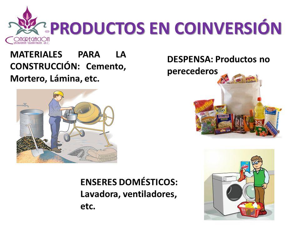 MATERIALES PARA LA CONSTRUCCIÓN GRUPOS COMUNITARIOS