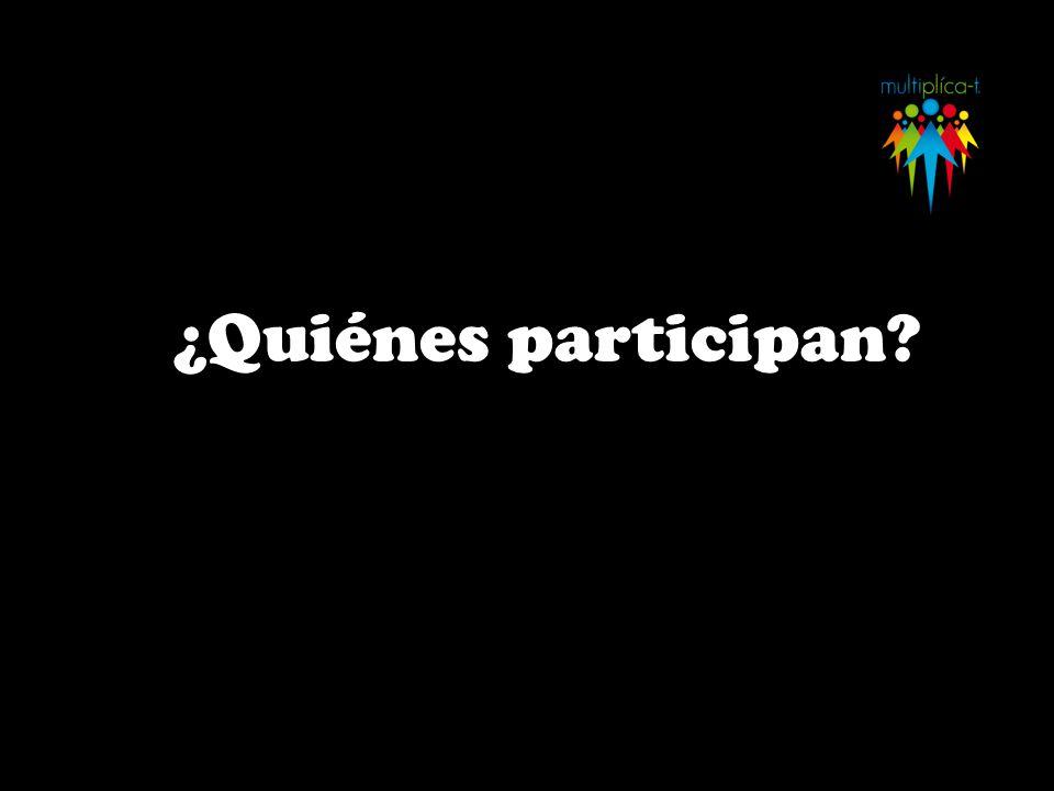 ¿Quiénes participan?