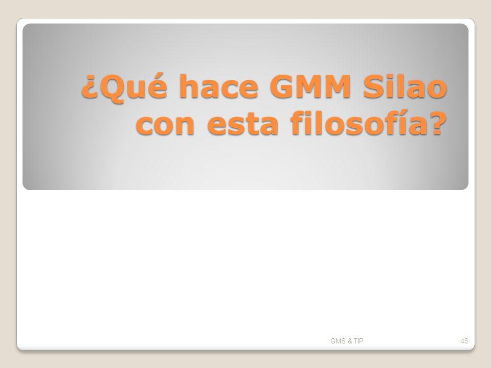 ¿Qué hace GMM Silao con esta filosofía? GMS & TIP45