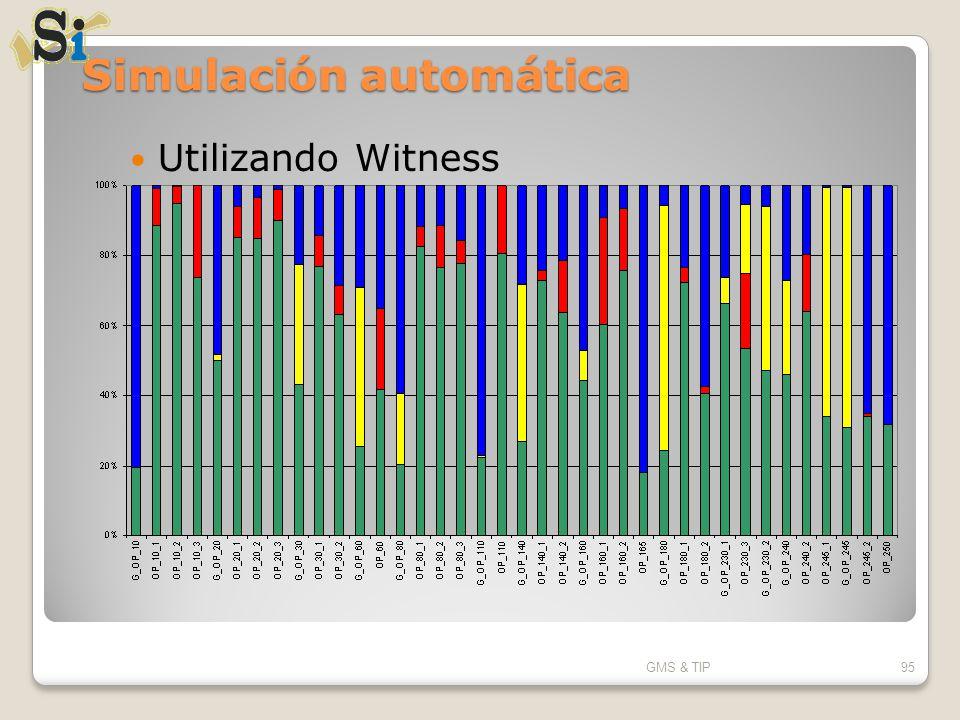 Simulación automática Utilizando Witness GMS & TIP95